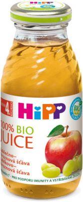 HIPP BIO Šťáva jablečno - hroznová (200 ml)
