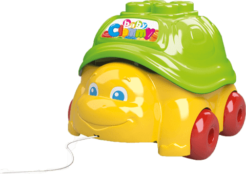 CLEMENTONI Clemmy baby Ťahacia korytnačka s 15 kockami