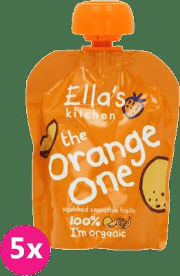 5x ELLA'S Kitchen, Ovocné pyré - Orange One (Mango) 90 g