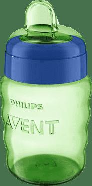 AVENT Kubek niekapek z miękkim ustnikiem 260 ml (9m+) – niebiesko-zielony