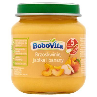 BOBOVITA Brzoskwinie jabłka i banany 5m+ (125 g)