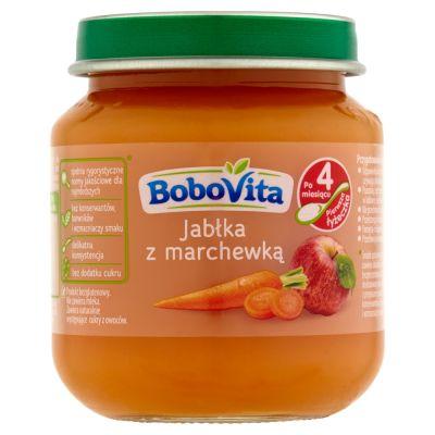 BOBOVITA Jabłka z marchewką 4m+ (125 g)
