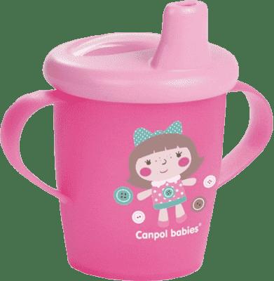 CANPOL BABIES Nevylévací hrníček TOYS – růžový (250 ml)