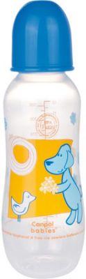 CANPOL Babies Láhev s potiskem MAXI 330 ml 0% BPA- modrá