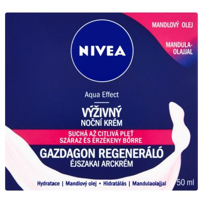 NIVEA Výživný regeneračný nočný krém pre starostlivosť o pleť 50ml