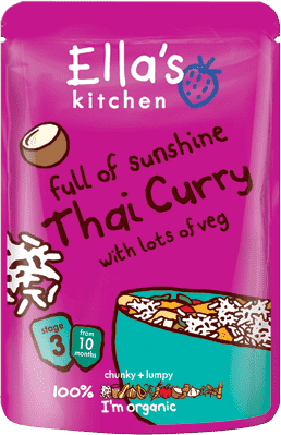 ELLA'S Kitchen Thai Curry - thajské karí 25g