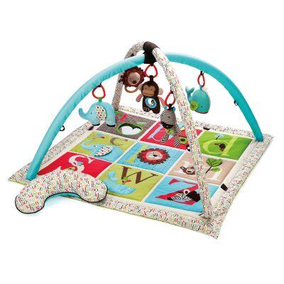 SKIP HOP Deka na hraní 5 hraček, polštářek ABC ZOO 0 m+