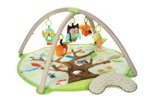 SKIP HOP Deka na hraní 5 hraček, polštářek Treetop Friends green-brown 0 m+
