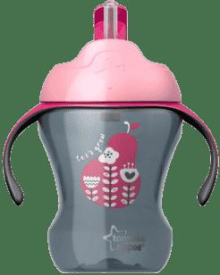 TOMMEE TIPPEE Nieprzeciekający kubek ze słomką Explora Easy Drink 6msc.+, 230ml-dziewczynka