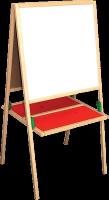 WOODY Drewniana tablica z półeczką
