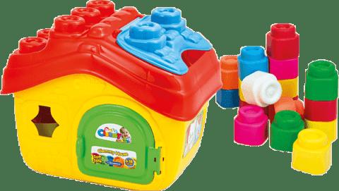 CLEMENTONI Clemmy baby - Kyblík domeček s otevírací střechou a 15 kostičkami