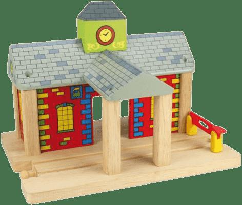 BIHJIGS Drewniane kolejki – Dworzec kolejowy ze szlabanem
