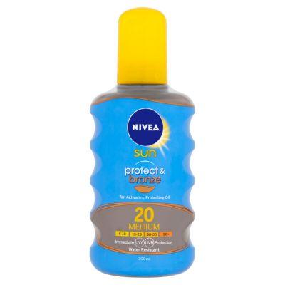 NIVEA Sun Olejek do opalania Protect&Bronze OF20, 200 ml