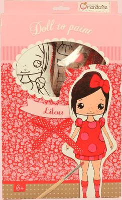 AVENUE MANDARINE Panenka k vymalování Lilou