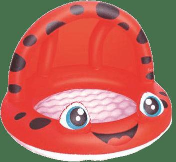 BESTWAY Nadmuchiwany basen z daszkiem, średnica 97 cm x 66 cm – czerwony