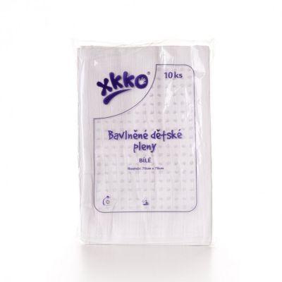 KIKKO Bawełniane pieluszki Classic 70x70 (10 szt.) - białe