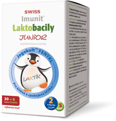 IMUNIT SWISS Laktobacily JUNIOR (30+6 tablet ZDARMA)
