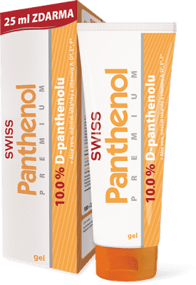 SWISS Panthenol 10% PREMIUM gel 100+25ml Zdarma