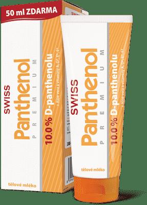 SWISS Panthenol 10% PREMIUM tělové mléko 200+50ml Zdarma