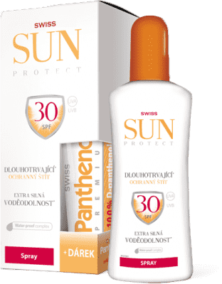 SUNPROTECT Swiss F30 spray 250ml + Pant.50ml Zadarmo