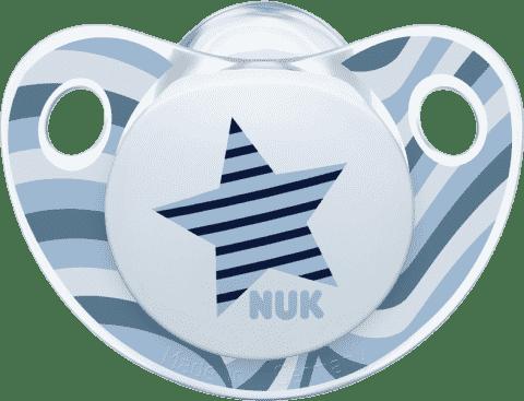 NUK Dudlík Trendline ADORE,silikon, velikost 1 (0-6m.) - hvězda