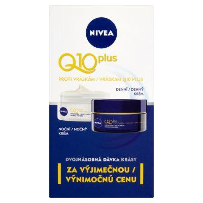 NIVEA Q10 Krémy proti vráskám denní a noční 50 ml + 50 ml