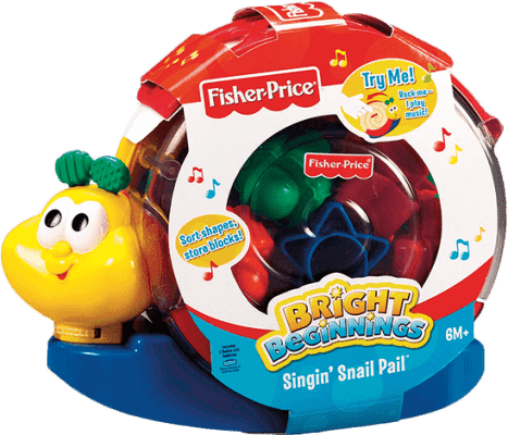 FISHER-PRICE Vkladacie šnek