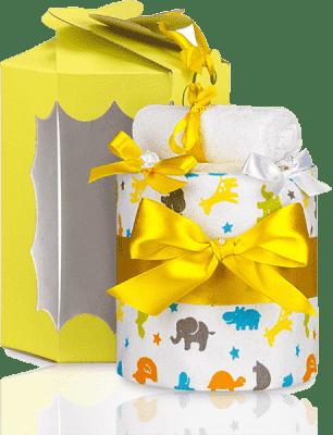 T-TOMI Tort z pieluszek, mała żyrafa