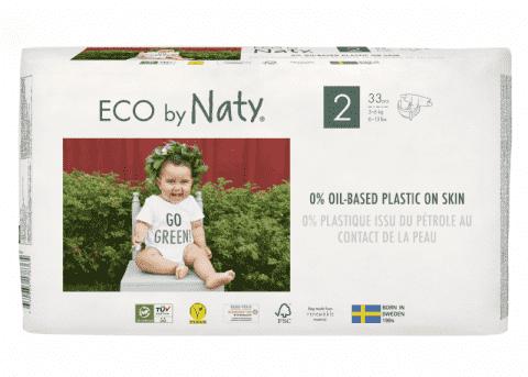 ECO BY NATY 2 Mini, 33 ks (3-6 kg) - jednorázové pleny