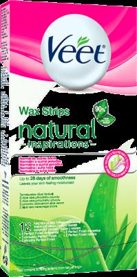 VEET Plastry z woskiem Natural Inspirations 12 szt.