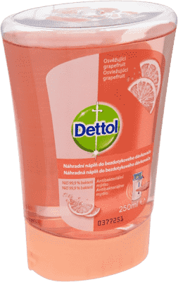 DETTOL Náplň do bezdotykového dávkovača - grapefruit 250 ml