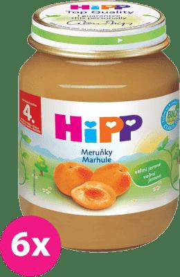 6x HIPP BIO s meruňkami (125 g) - ovocný příkrm