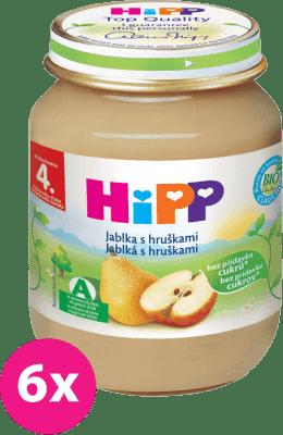 6x HIPP Jablká s hruškami (125 g) - ovocný príkrm