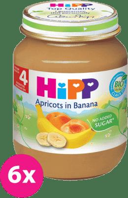 6x HIPP banánový s meruňkami (125 g) - ovocný příkrm