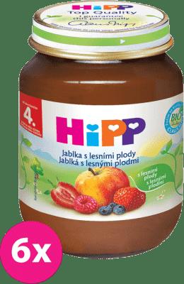 6x HIPP jablkový s lesními plody (125 g) - ovocný příkrm