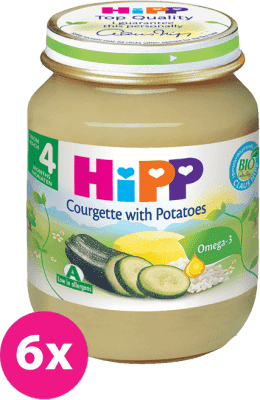 6x HIPP BIO Cuketa so zemiakmi (125 g) - zeleninový príkrm