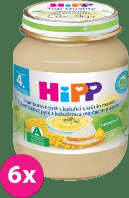 6x HIPP BIO brambory a kukuřice s krůtím masem (125 g) - maso-zeleninový příkrm