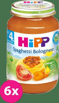 6x HIPP BIO špagety v bolonskej omáčke (190 g) - mäso-zeleninový príkrm