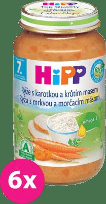 6x HIPP ryža s karotkou a morčacím mäsom (220 g) - mäso-zeleninový príkrm