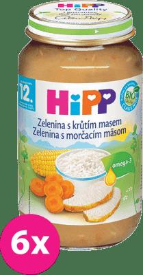 6x HIPP jemná zelenina s morčacím mäsom (220 g) - mäso-zeleninový príkrm