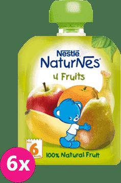 6x NESTLÉ Naturnes 4 ovoce (90 g) - ovocná kapsička