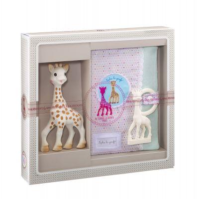 VULLI Dárkový set žirafa Sophie + pouzdro na zápisky & kousátko