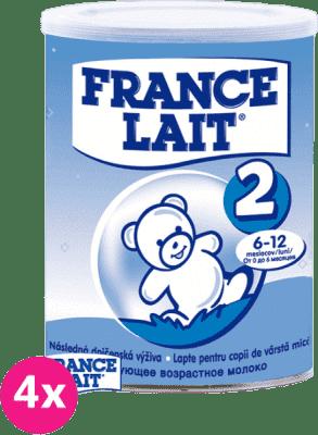 4x FRANCE LAIT 2 (400g) - kojenecké mléko