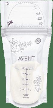 AVENT Vrecúška na materské mlieko 180ml 25ks