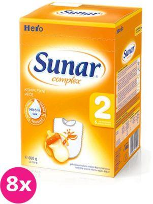 8x SUNAR Complex 2 (600 g) - dojčenské mlieko