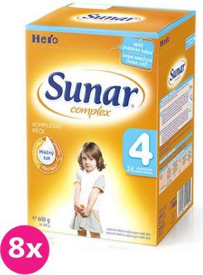 8x SUNAR Complex 4 (600 g) - dojčenské mlieko