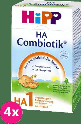 4x HiPP HA 1 Combiotik (500g) – kojenecké mléko