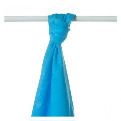 KIKKO Bambusowy ręcznik/pieluszka Colours 90x100 (1 szt.) – cyan