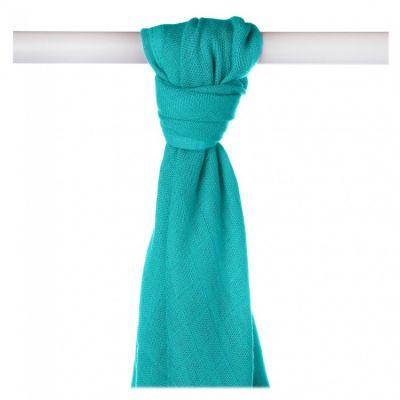 KIKKO Bambusová osuška/plena Colours 90x100 (1 ks) – turquoise