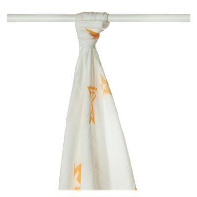 KIKKO Bambusowy ręcznik/pieluszka Stars 90x100 (1 szt.) - orange